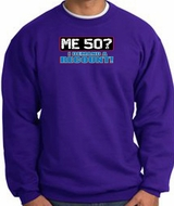 50th Birthday Sweatshirt - Funny Me 50 Years Purple Sweat Shirt