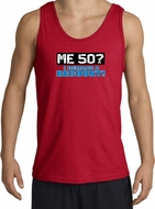 50th Birthday Tanktop - Funny Me 50 Years Adult Red Tank Top