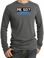 50th Birthday Thermal Shirt - Me 50 Years Longsleeve Heather Thermal