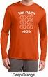 6 Pack Abs Beer Funny Mens Dry Wicking Long Sleeve Shirt