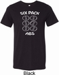 6 Pack Abs Beer Funny Mens Tri Blend Crewneck Shirt