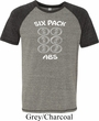 6 Pack Abs Beer Funny Mens Tri Blend Shirt