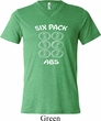 6 Pack Abs Beer Funny Mens Tri Blend V-neck Shirt