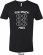6 Pack Abs Beer Funny Mens V-Neck Shirt