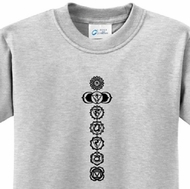 7 Chakras Black Print Kids Yoga Shirts