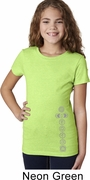 7 Chakras Bottom Print Girls Yoga Shirts