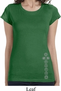 7 Chakras Bottom Print Ladies Yoga Shirts