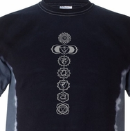 7 Chakras Mens Yoga Shirts