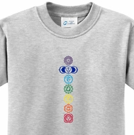7 Colored Chakras Kids Yoga Shirts