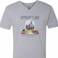 9-11 Never Forget Mens V-Neck Shirt