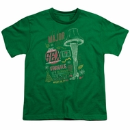 A Christmas Story Kids Shirt Its A Major Prize Kelly Green T-Shirt