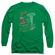 A Christmas Story Long Sleeve Shirt Its A Major Prize Kelly Green Tee T-Shirt