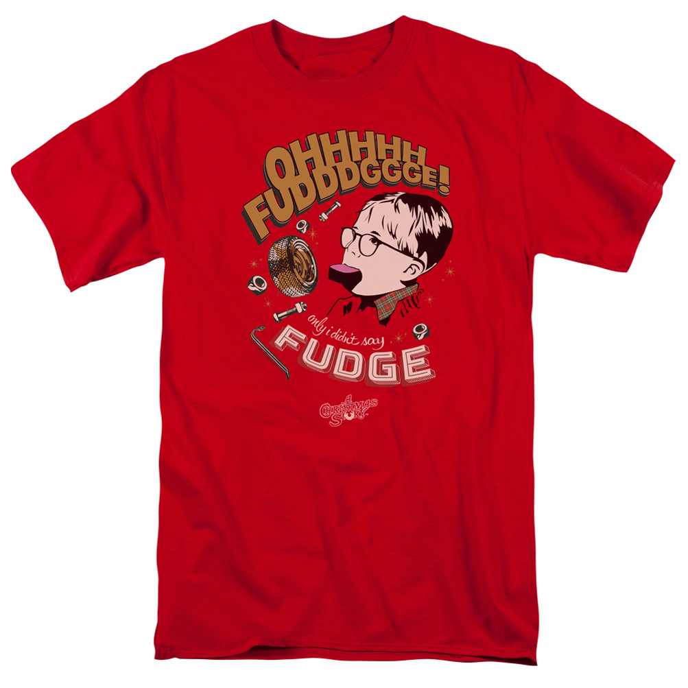 A Christmas Story Shirt Oh Fudge Red T-Shirt - A Christmas Story Oh ...