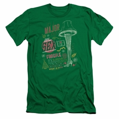 A Christmas Story Slim Fit Shirt Its A Major Prize Kelly Green T-Shirt