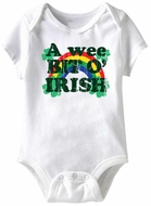 A Wee Kit O' Irish Funny Baby Romper White Infant Babies Creeper