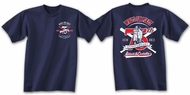 Abbott and Costello Shirt - 75th Anniversary Adult Tee - Navy