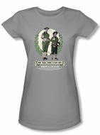 Abbott & Costello Juniors Shirt Be All You Can Be Silver Tee T-shirt