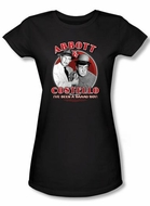 Abbott & Costello Juniors Shirt Funny Bad Boy Black Tee T-shirt