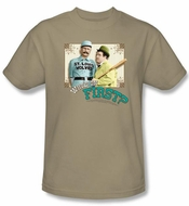 Abbott & Costello Kids Shirt Who's On First Youth Sand Tee T-shirt