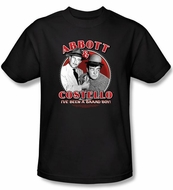 Abbott & Costello Shirt Funny Bad Boy Adult Black Tee T-Shirt