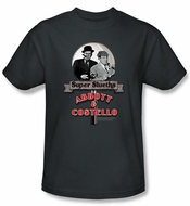 Abbott & Costello Shirt Funny Super Slueths Charcoal Tee T-Shirt