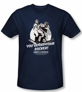 Abbott & Costello Shirt Off Your Rocker Navy Slim Fit Tee T-Shirt