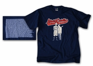 Abbott & Costello T-shirt Who's on First Navy Blue Tee Shirt