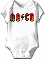 ABCD Funny Baby Romper White Infant Babies Creeper