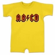 ABCD Funny Baby Romper Yellow Infant Babies Creeper