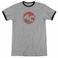 AC Delco Fire Ring Spark Plugs Athletic Heather Ringer Shirt