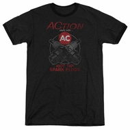AC Delco Hot Tip Spark Plugs Black Ringer Shirt
