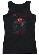 AC Delco Juniors Tank Top Hot Tip Spark Plugs Black Tanktop