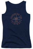 AC Delco Juniors Tank Top Spark Plugs Victory Navy Blue Tanktop