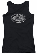 AC Delco Juniors Tank Top United Motors Service Black Tanktop
