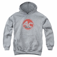 AC Delco Kids Hoodie Fire Ring Spark Plugs Athletic Heather Youth Hoody