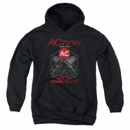 AC Delco Kids Hoodie Hot Tip Spark Plugs Black Youth Hoody