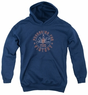 AC Delco Kids Hoodie Spark Plugs Victory Navy Blue Youth Hoody