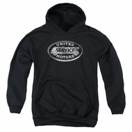 AC Delco Kids Hoodie United Motors Service Black Youth Hoody