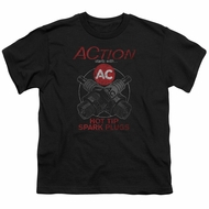AC Delco Kids Shirt Hot Tip Spark Plugs Black T-Shirt