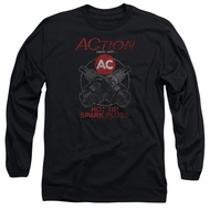 AC Delco Long Sleeve Shirt Hot Tip Spark Plugs Black Tee T-Shirt