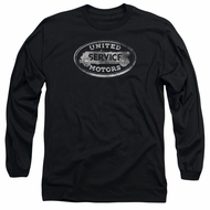AC Delco Long Sleeve Shirt United Motors Service Black Tee T-Shirt