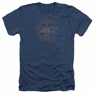 AC Delco Shirt Spark Plugs Victory Heather Navy Blue T-Shirt