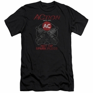 AC Delco Slim Fit Shirt Hot Tip Spark Plugs Black T-Shirt
