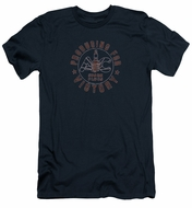 AC Delco Slim Fit Shirt Spark Plugs Victory Navy Blue T-Shirt