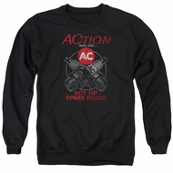AC Delco Sweatshirt Hot Tip Spark Plugs Adult Black Sweat Shirt