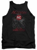 AC Delco Tank Top Hot Tip Spark Plugs Black Tanktop