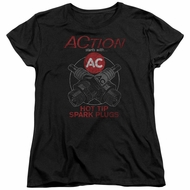 AC Delco Womens Shirt Hot Tip Spark Plugs Black T-Shirt