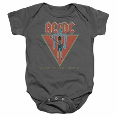 ACDC Baby Romper Flick Of The Switch Charcoal Infant Babies Creeper
