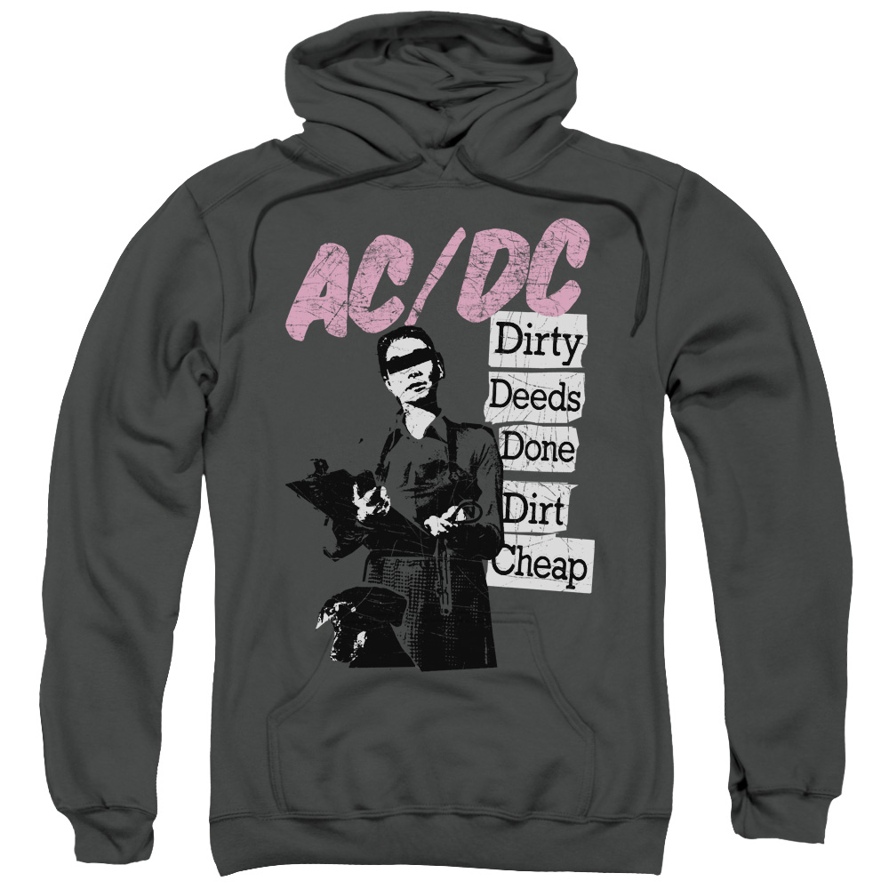 acdc hoodie dirty deeds charcoal sweatshirt hoody acdc. Black Bedroom Furniture Sets. Home Design Ideas