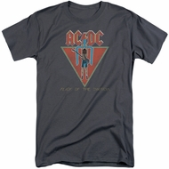 ACDC Shirt Flick Of The Switch Charcoal Tall T-Shirt